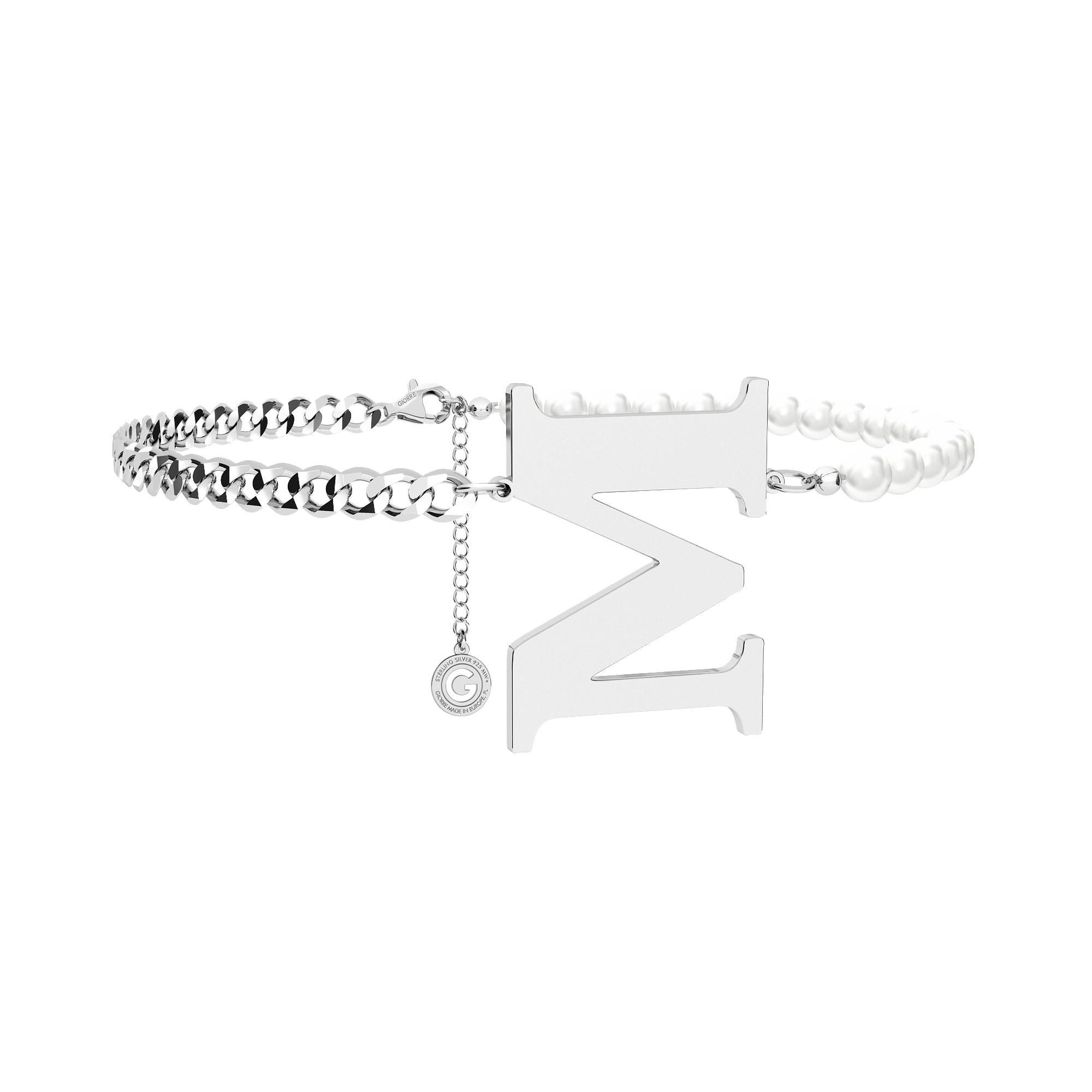 Perlenhalsband mit brief sterling silber 925