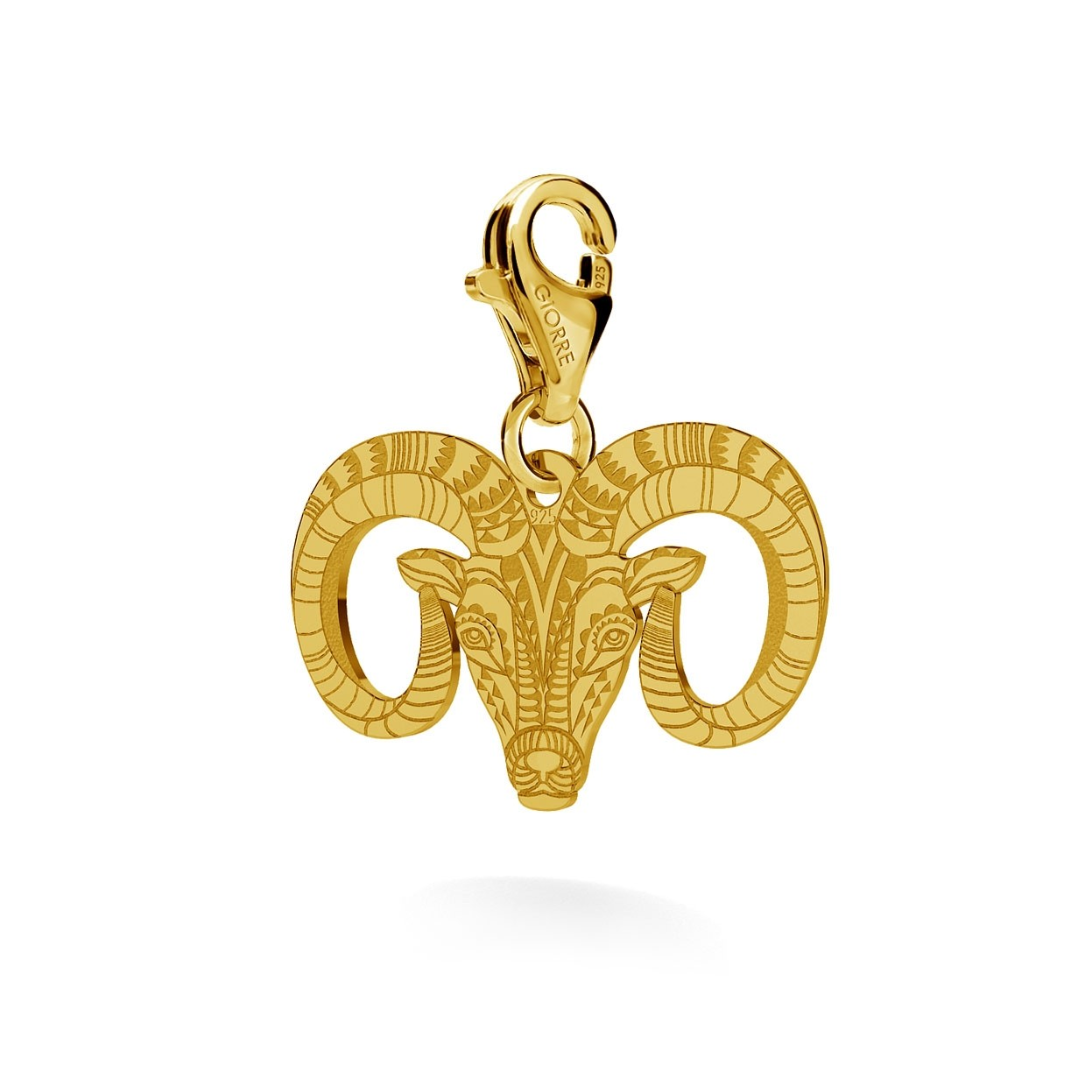 CHARM 82, MUFLON, SILVER 925, RHODIUM OR GOLD PLATED