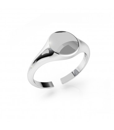 Heart ring with your letter, sterling silver 925