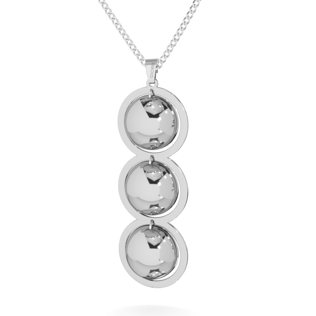 Srebrny naszyjnik potrójne wypukłe blaszki srebro 925