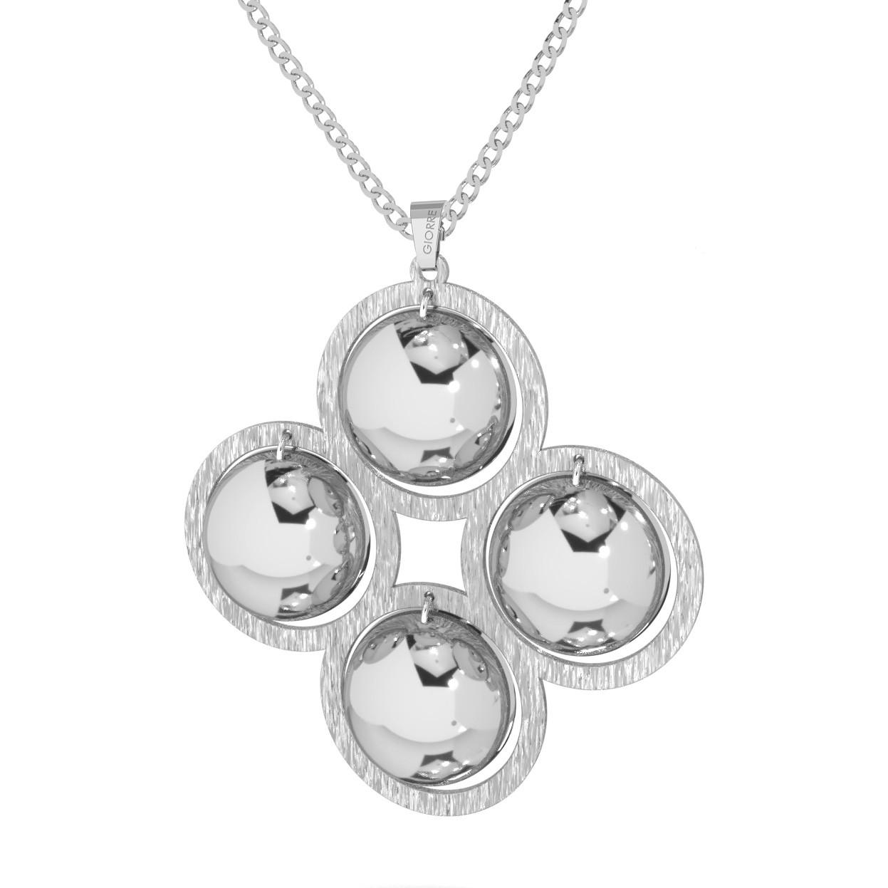 Srebrny naszyjnik cztery wypukłe blaszki srebro 925
