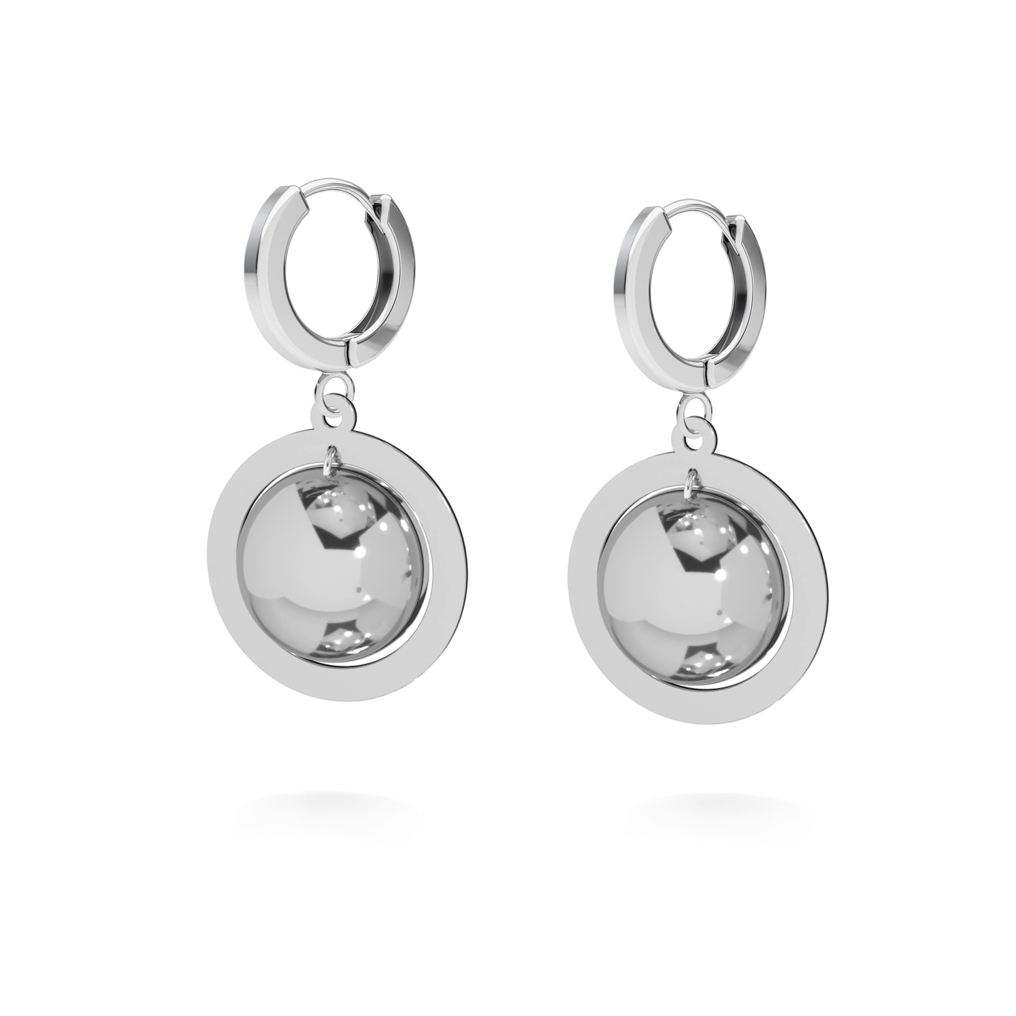 Square earrings sterling silver 925