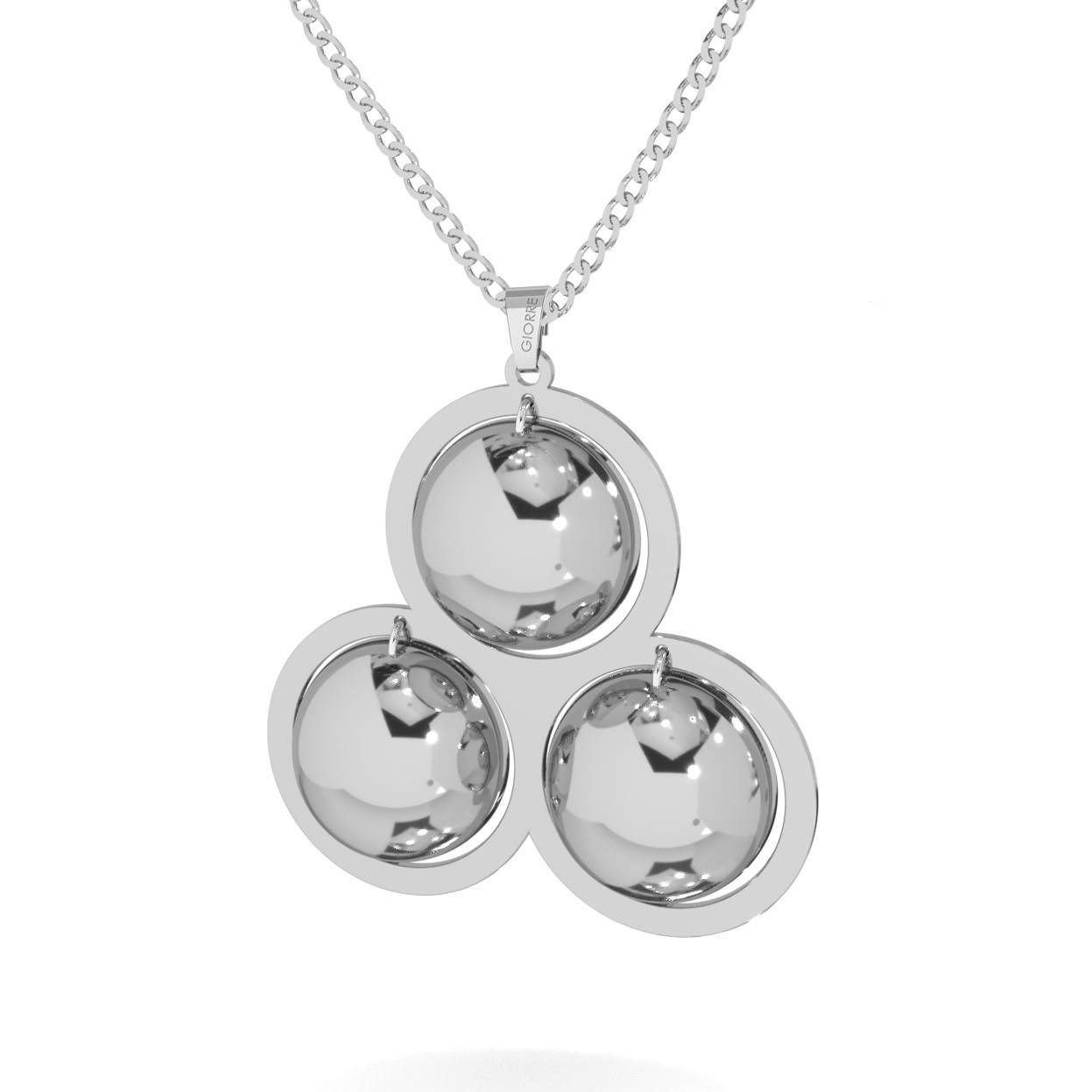 Woman necklace with long pendant sterling silver 925