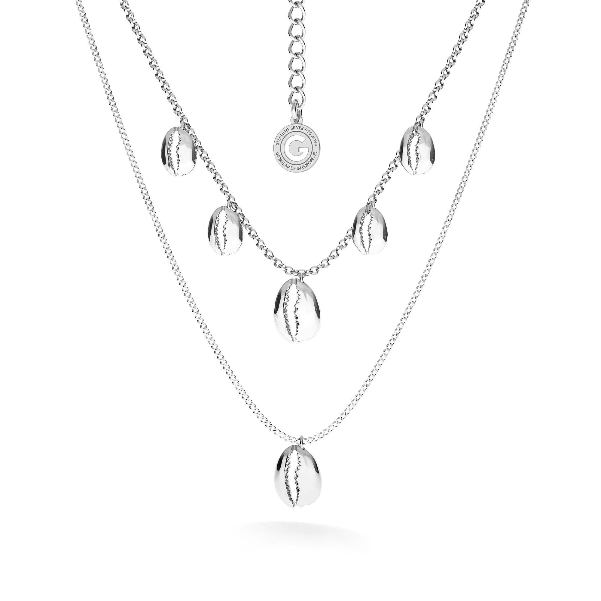 Srebrny naszyjnik muszle MON DÉFI, srebro 925