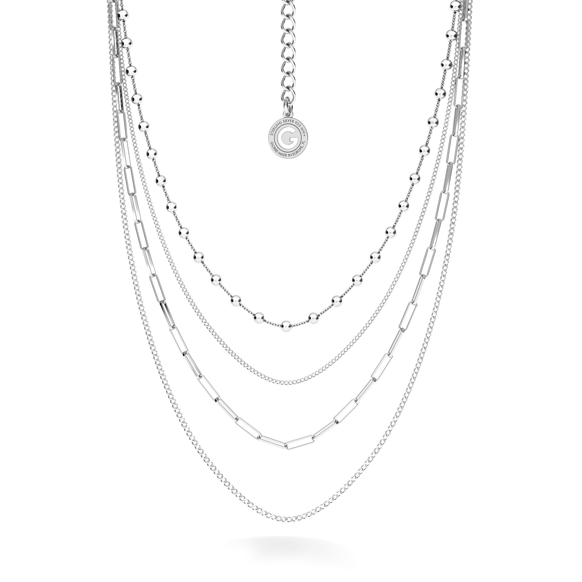 Srebrny łańcuszkowy naszyjnik 925