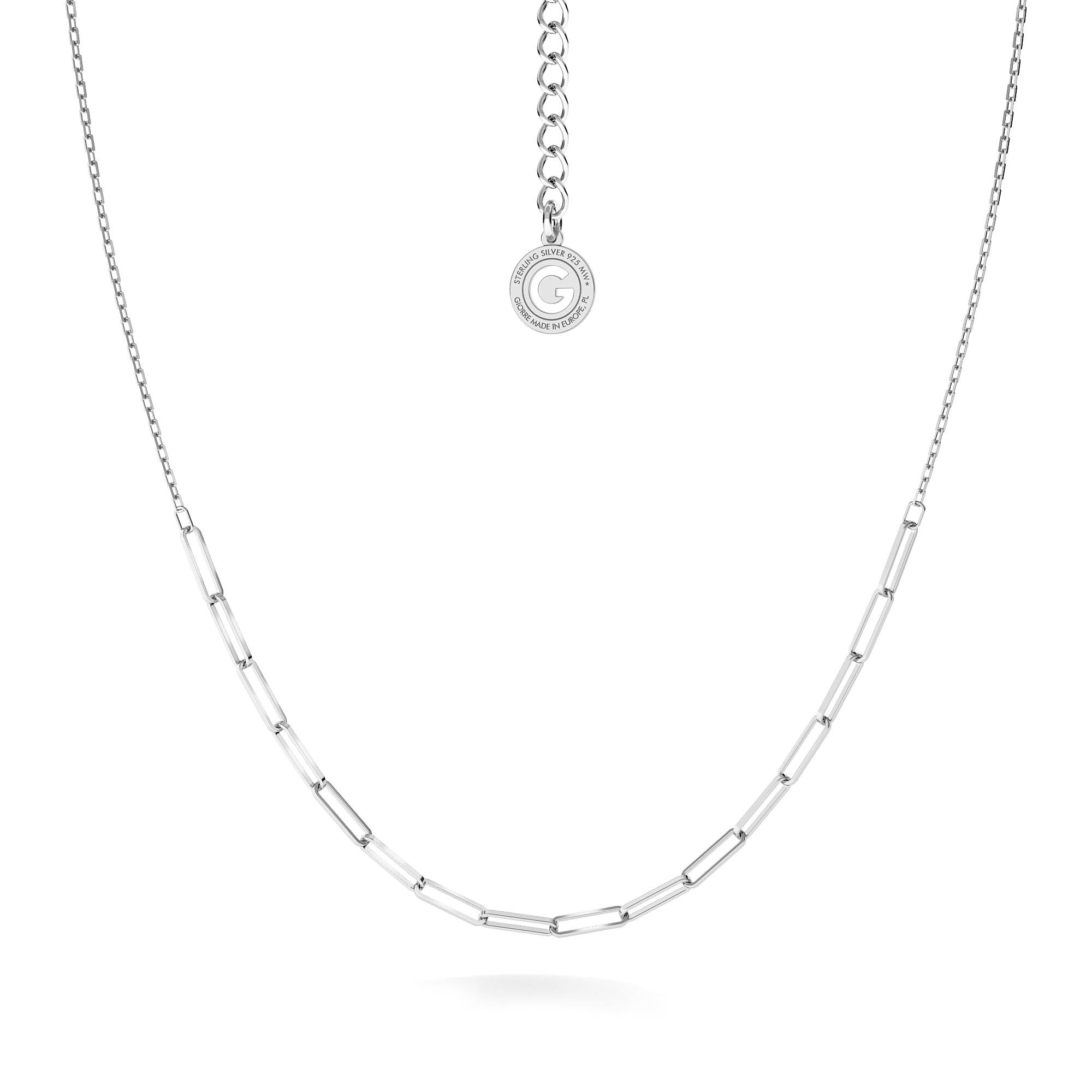 Silver choker curb chain sterling silver 925