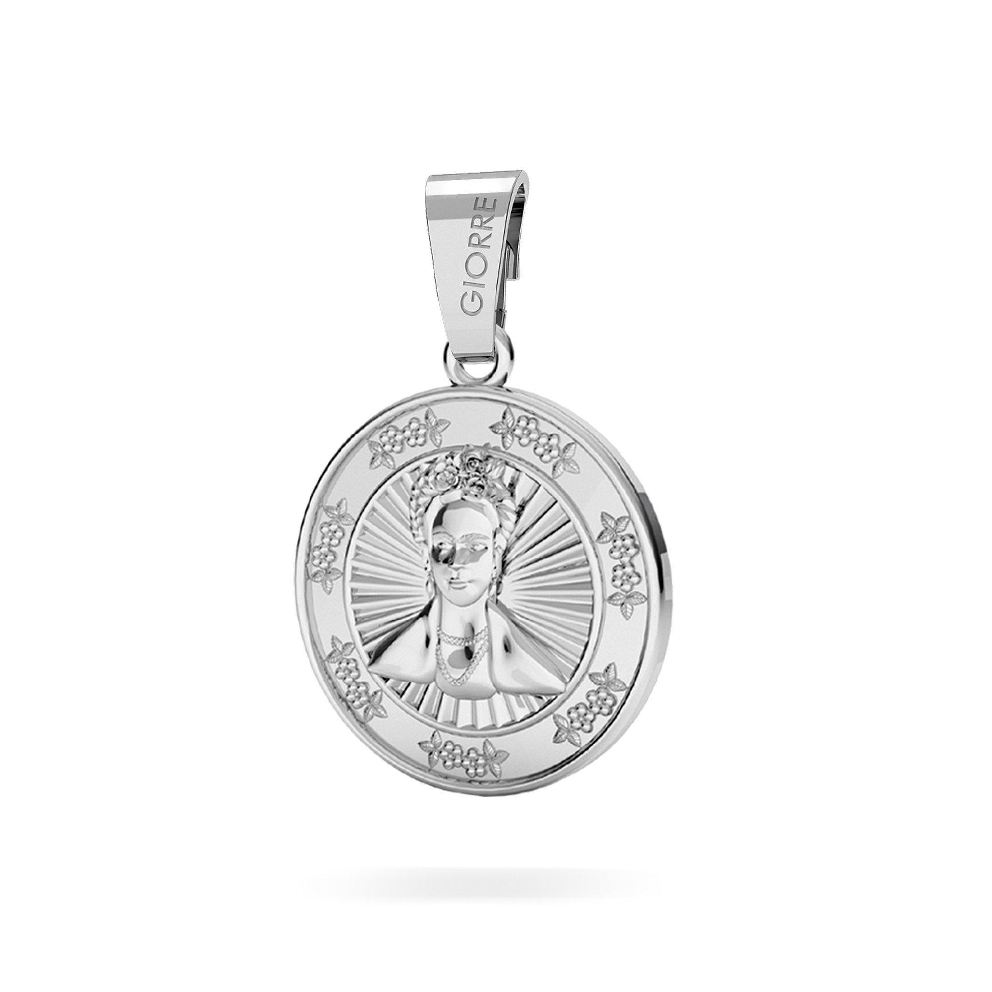 Coin pendant charms bead sterling silver