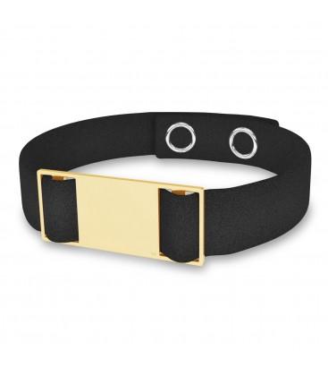 Bracelet avec étiquette rectangle, argent 925