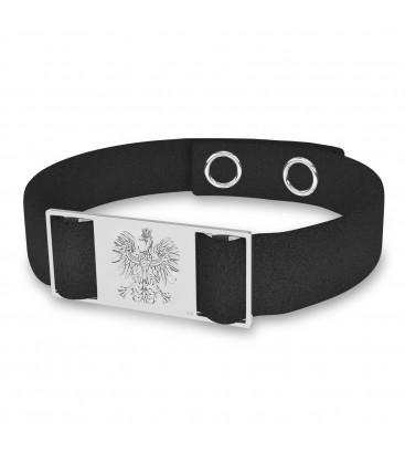 Eagle bracelet, alcantara & sterling silver 925