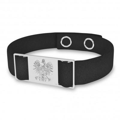 Armband mit rechteckigem etikett, sterlingsilber 925