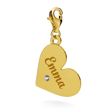 CHARMS 101, HEART FOR ENGRAVING, SWAROVSKI