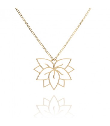 Srebrny naszyjnik Kwiat Lotosu z łącznikiem YA