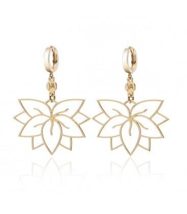 Wiszące kolczyki Kwiat Lotosu z logo YA, srebro 925