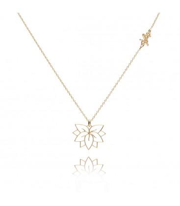 Srebrny naszyjnik Kwiat Lotosu z łącznikiem, kolekcja YA