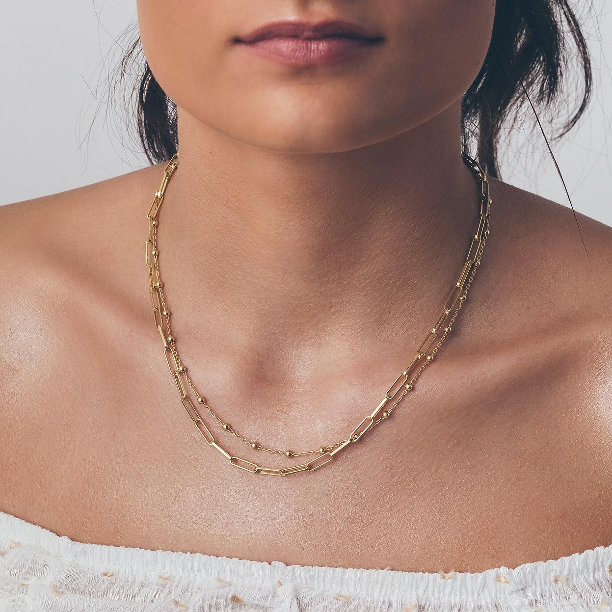 Srebrny łańcuszek kulkowy do wpinania charmsów 925