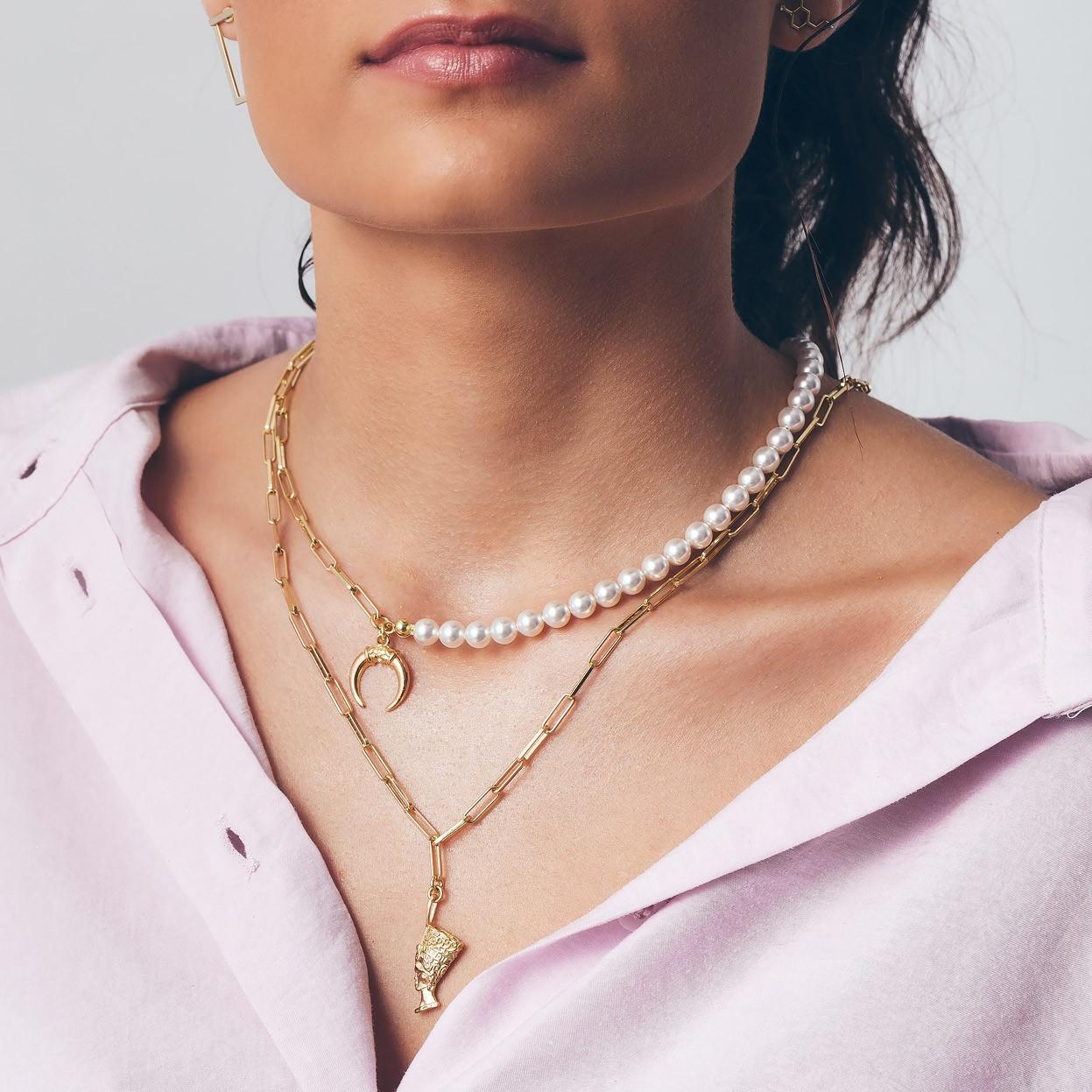 Stachelrochen halskette MON DÉFI sterling silber 925