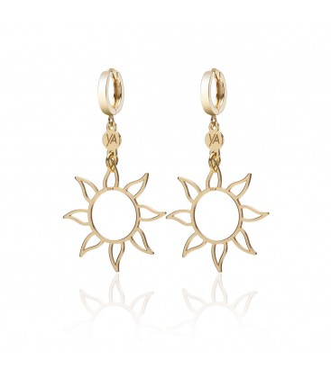 Srebrne kolczyki klipsy Wschód Słońca, kolekcja YA, srebro 925