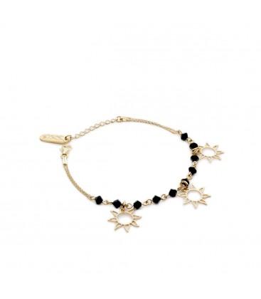 Bransoletka Słońce z kryształami Swarovskiego, kolekcja YA ,srebro