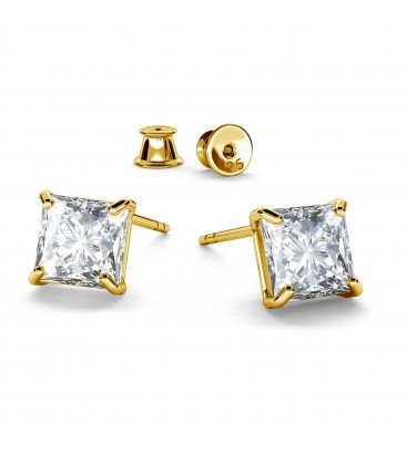 EARRINGS SWAROVSKI ZIRCONIA, RHODIUM OR GOLD PLATED