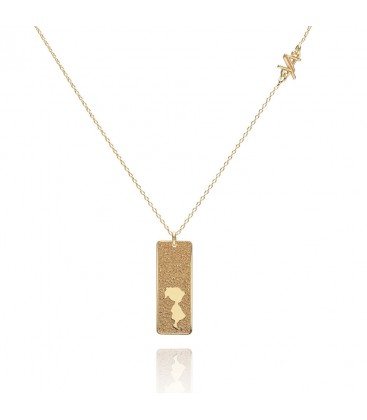 Naszyjnik z zawieszką Baby Girl, grawer, kolekcja YA, srebro 925