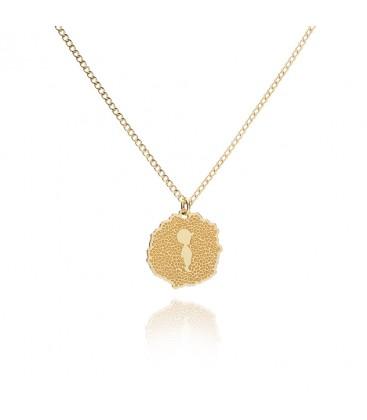 Srebrny naszyjnik z medalionem Baby Boy, struktura vulkanitu, grawer, YA