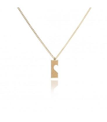 Naszyjnik dla par ON z połową serca, srebro, komplet ON i ONA