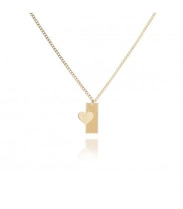 Srebrny naszyjnik dla par ONA z połową serca, komplet ON i ONA