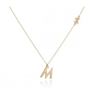 Srebrny naszyjnik z inicjałem, personalizowany, kolekcja YA