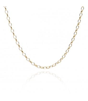 Srebrny choker łańcuszek ogniwkowy, YA srebro 925