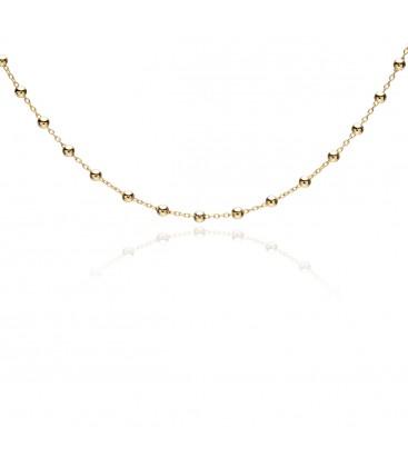 Srebrny choker łańcuszek z kulkami, YA srebro 925