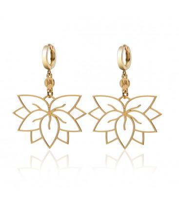 Sterling silver lotus earrings YA 925