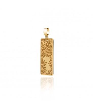 Srebrny charms Baby Girl – prostokątny medalion YA z grawerem