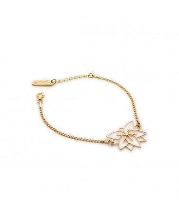 Srebrna bransoletka Kwiat Lotosu, kolekcja YA, srebro 925