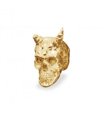 Srebrny koralik beads - czaszka diabeł, srebro 925