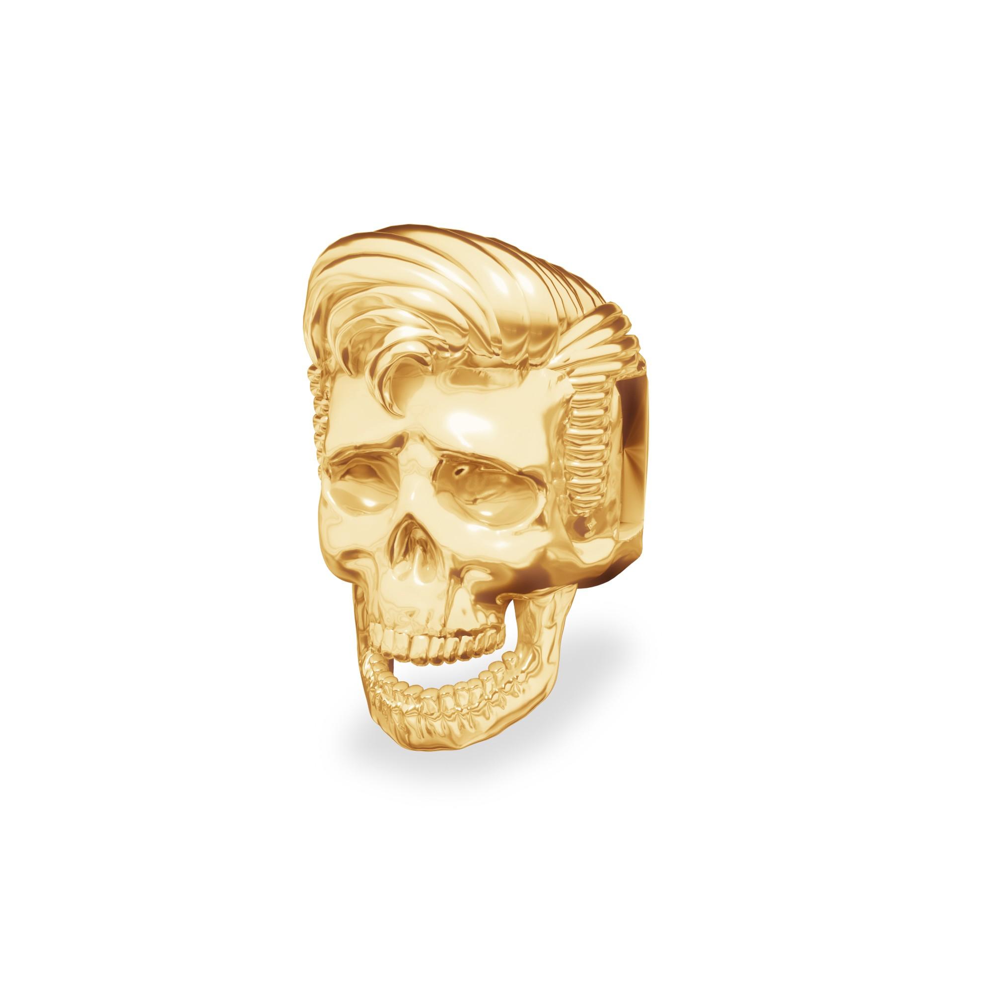 Srebrny koralik beads - czaszka Elvis, srebro 925