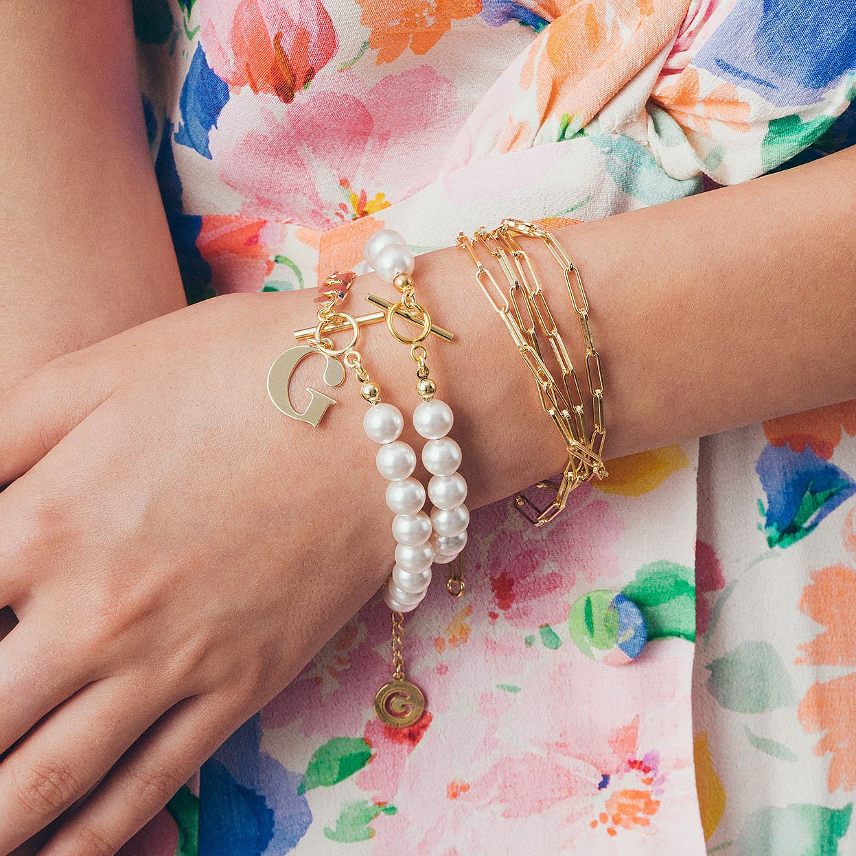 Bracelet pearls 6mm argent 925