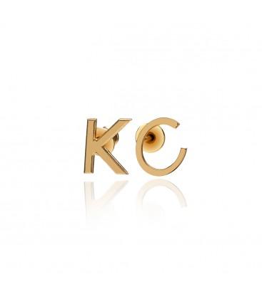 Sterling silver letter earrings YA 925