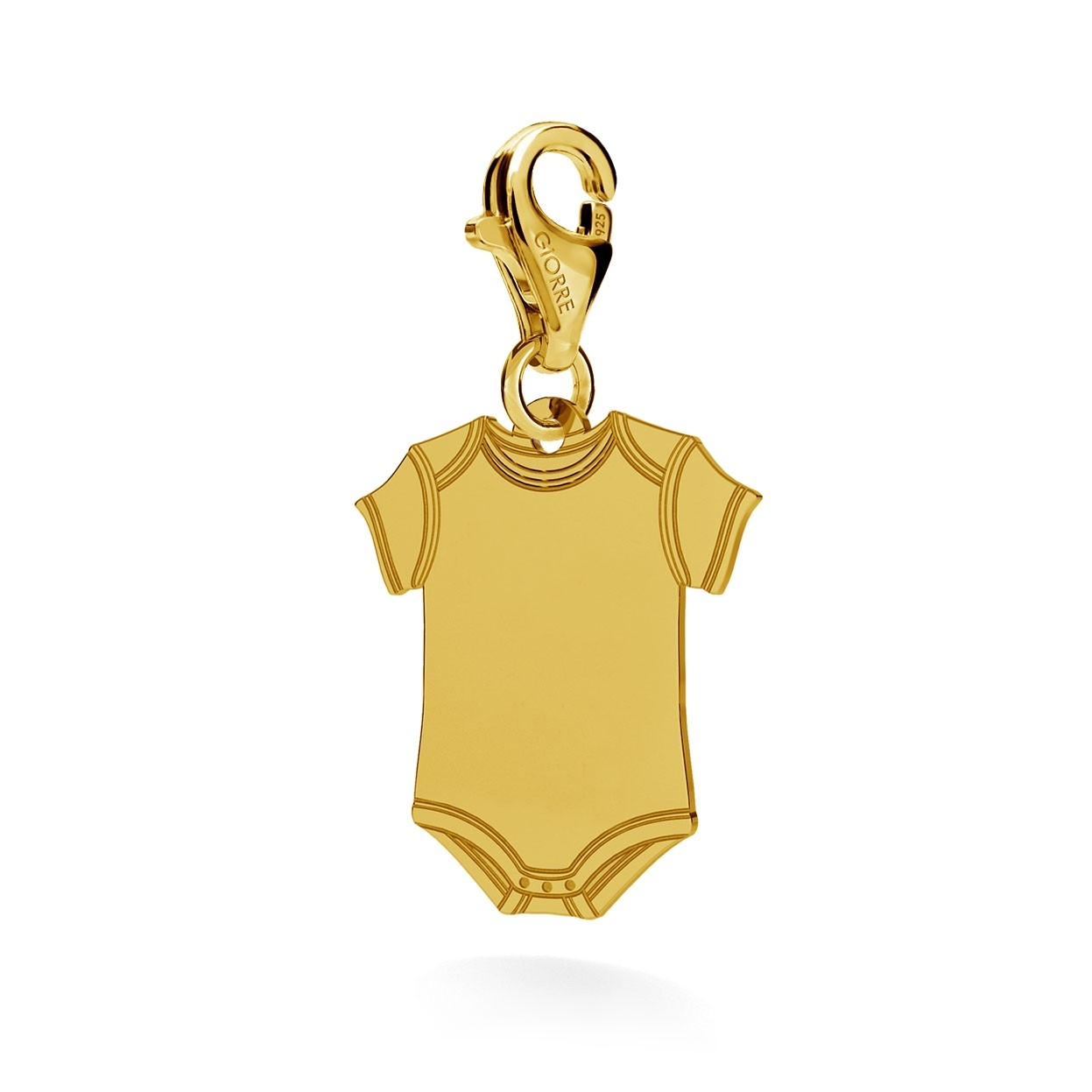 CHARM 91, BABY ROMPERS,  SILVER 925,  RHODIUM OR GOLD PLATED