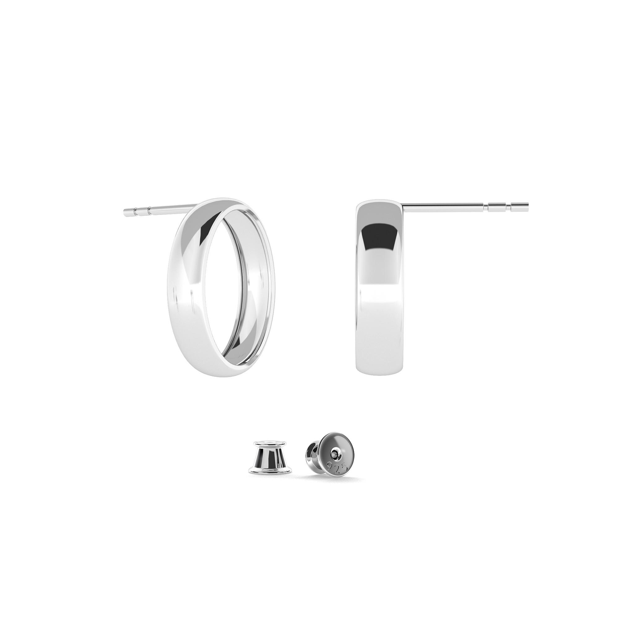 Sterling silver long earrings 925