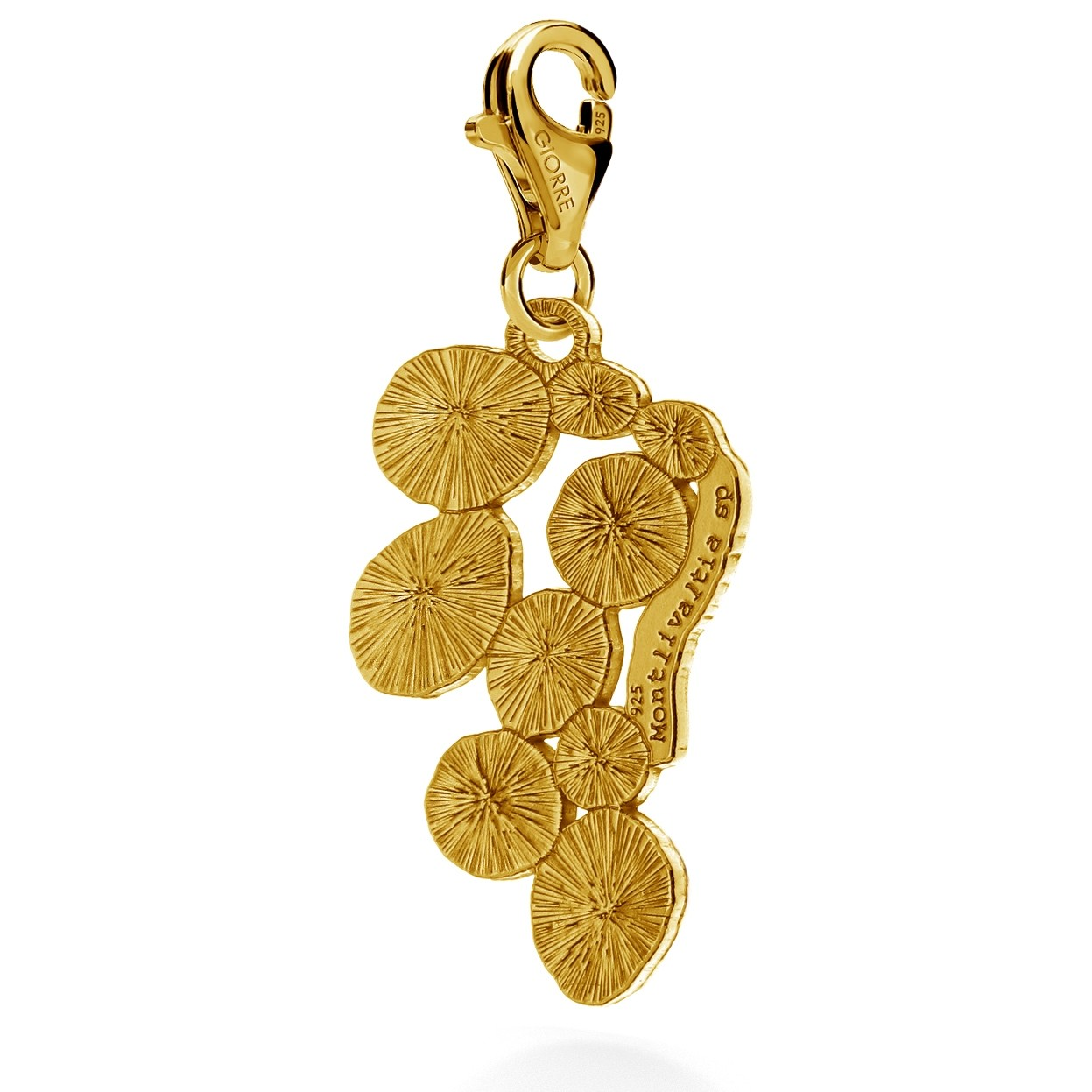 CHARMS 10, MONTLIVALTIA SP, STERLING SILVER RHODIUM OR 24K GOLD PLATED