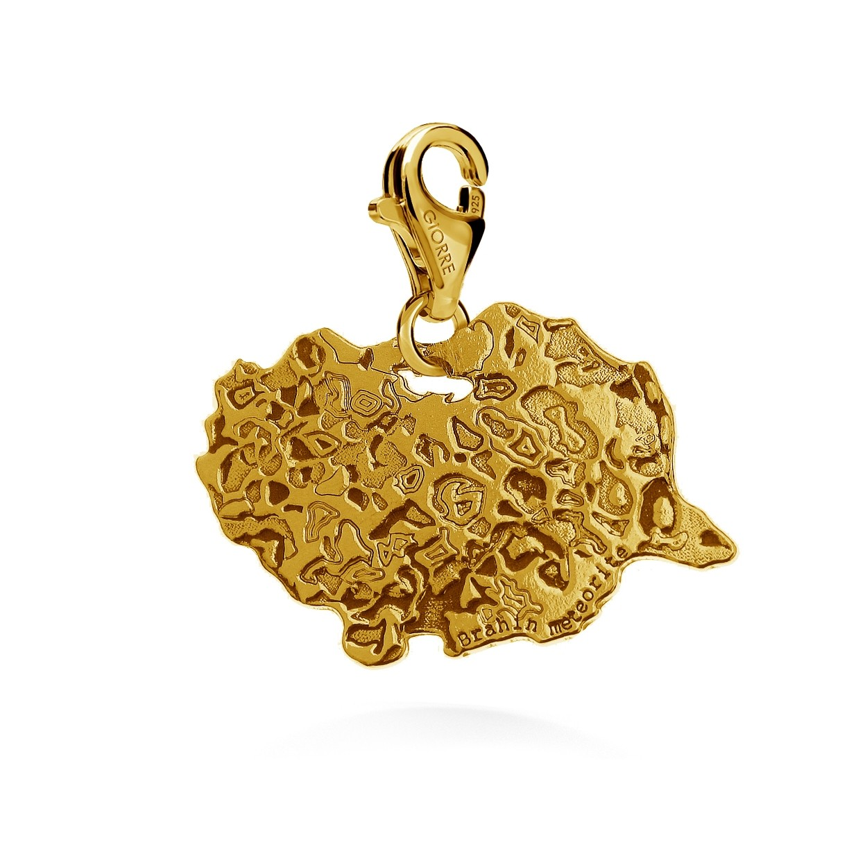 CHARMS 9, METEORITE, STERLING SILVER RHODIUM OR 24K GOLD PLATED