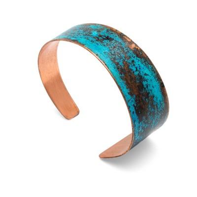 Copper bracelet, turquis