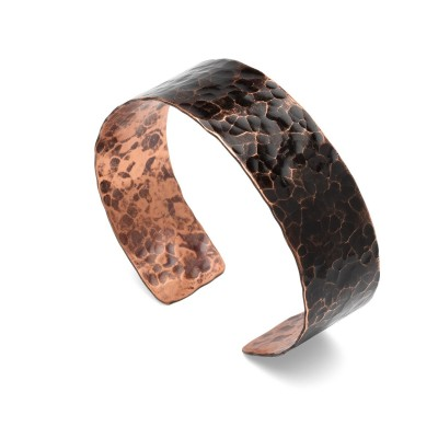 Copper bracelet with cross shape
