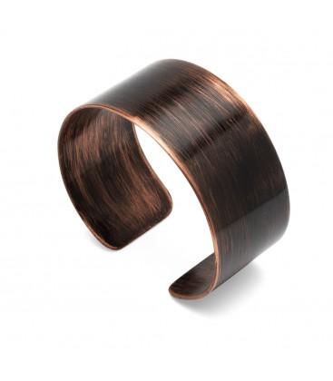 Copper bracelet with leopard print