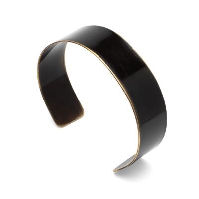 Miedziana wsuwana bransoletka z czarnym wzorem