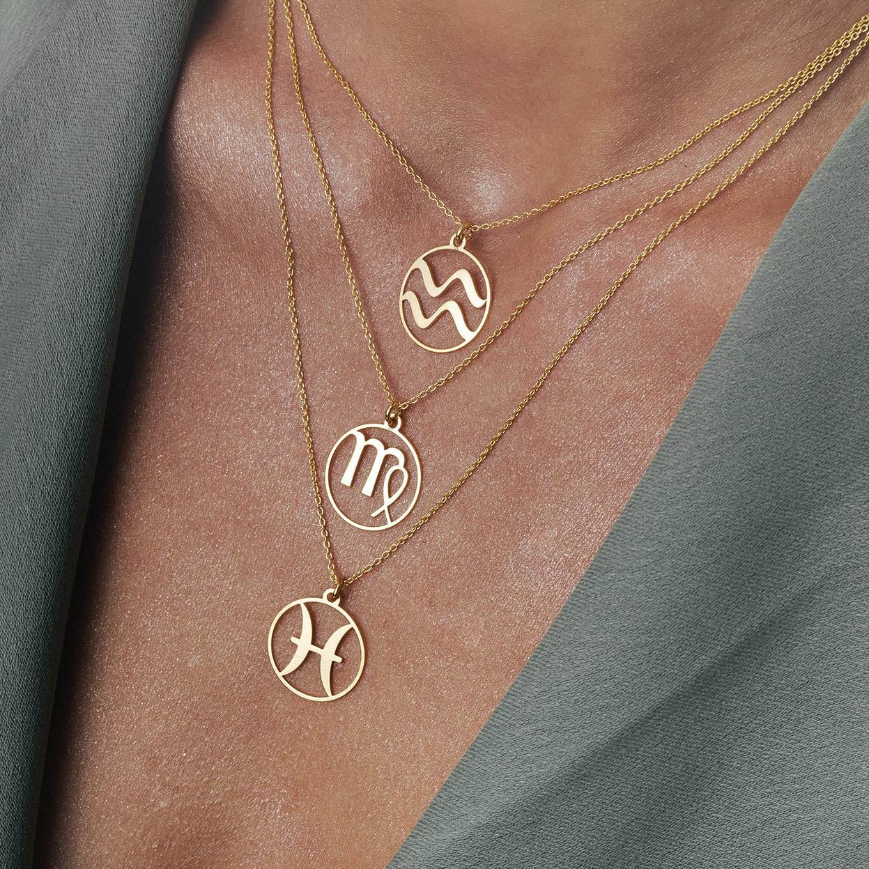 Naszyjnik znak zodiaku WODNIK z kryształem Swarovskiego srebro 925