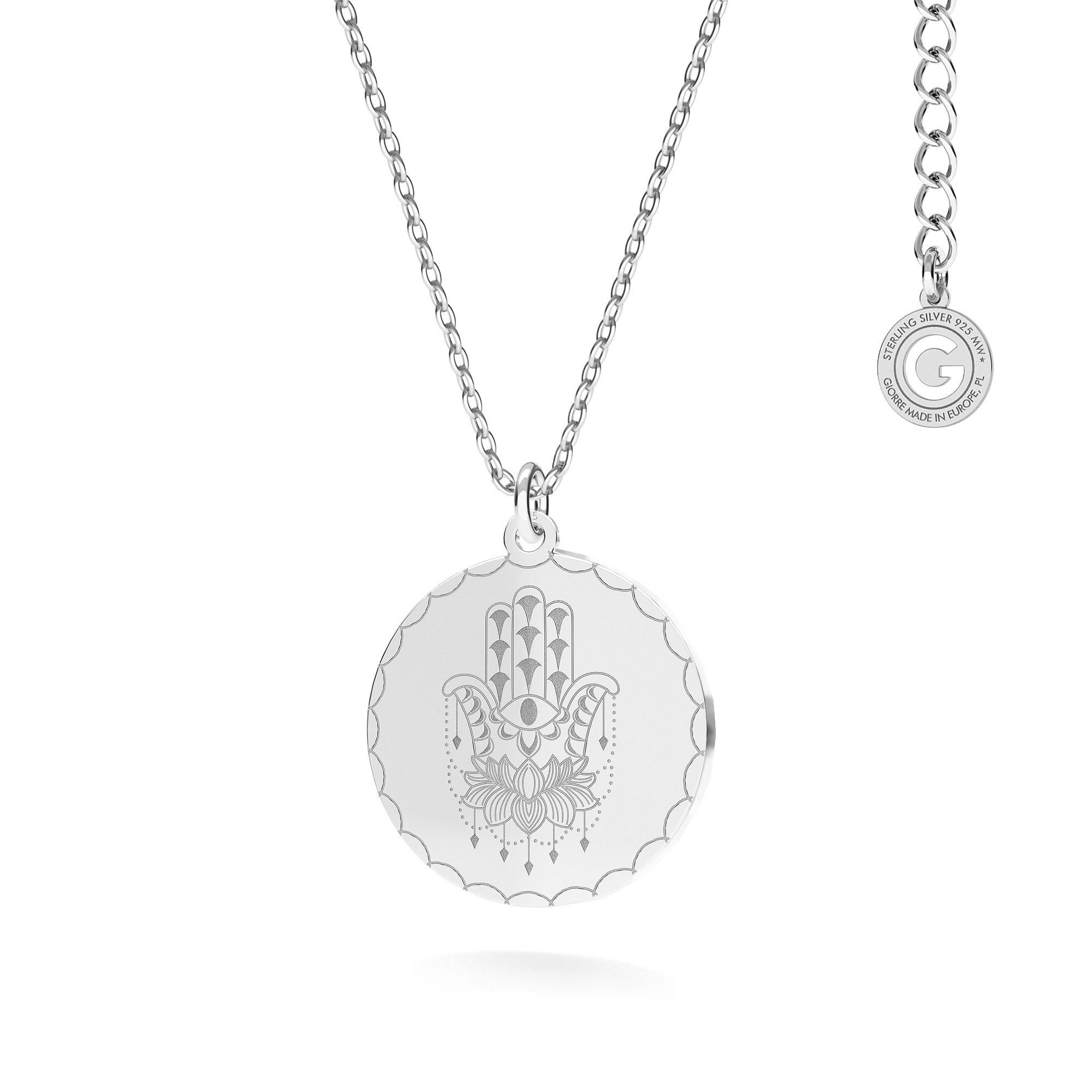 MON DÉFI Necklace - coral, sterling silver 925