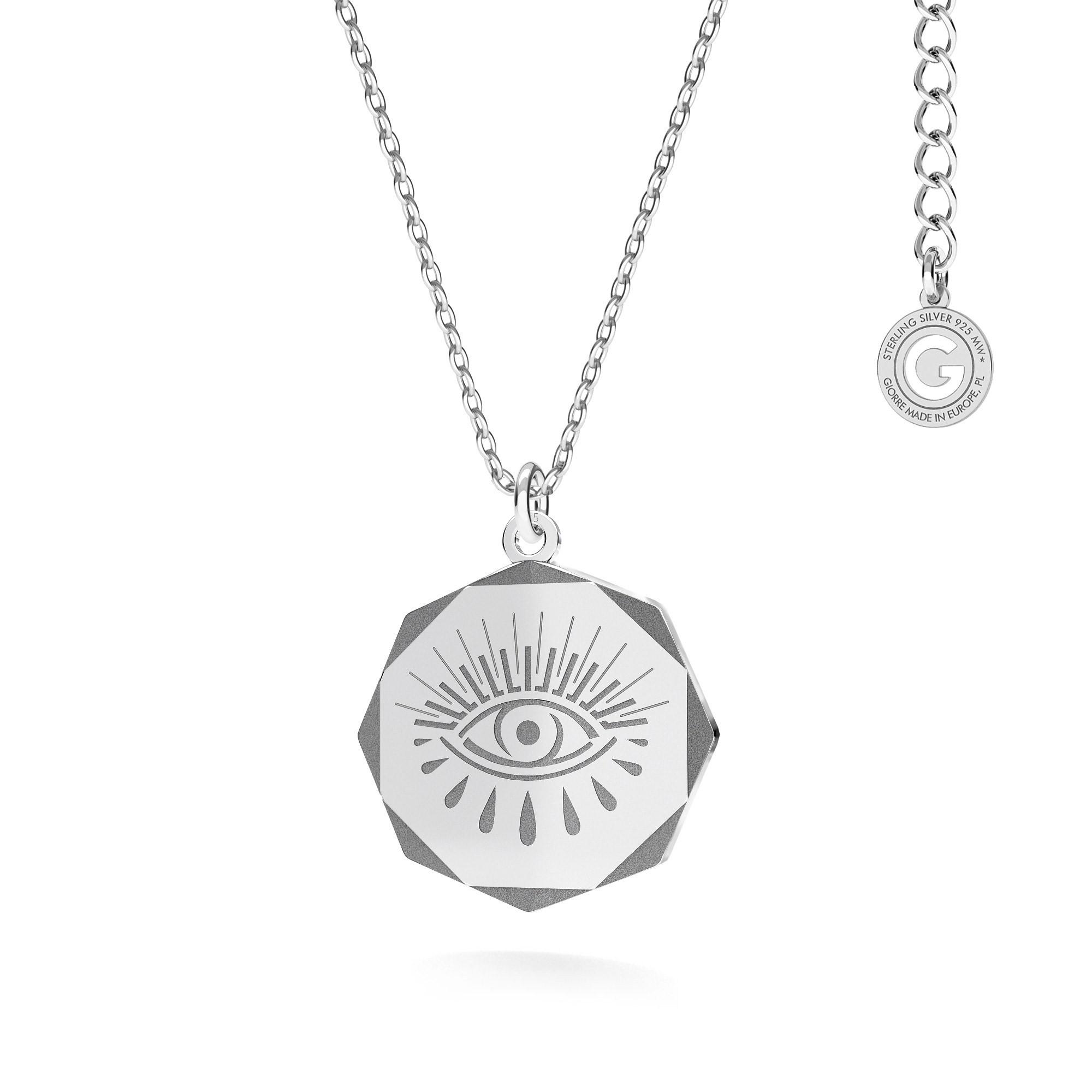Naszyjnik medalion Hamsa MON DÉFI srebro 925