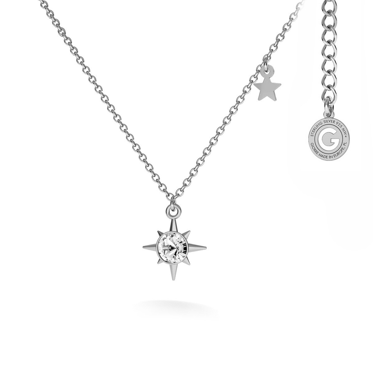 Naszyjnik gwiazda z krystzałem MON DÉFI srebro 925