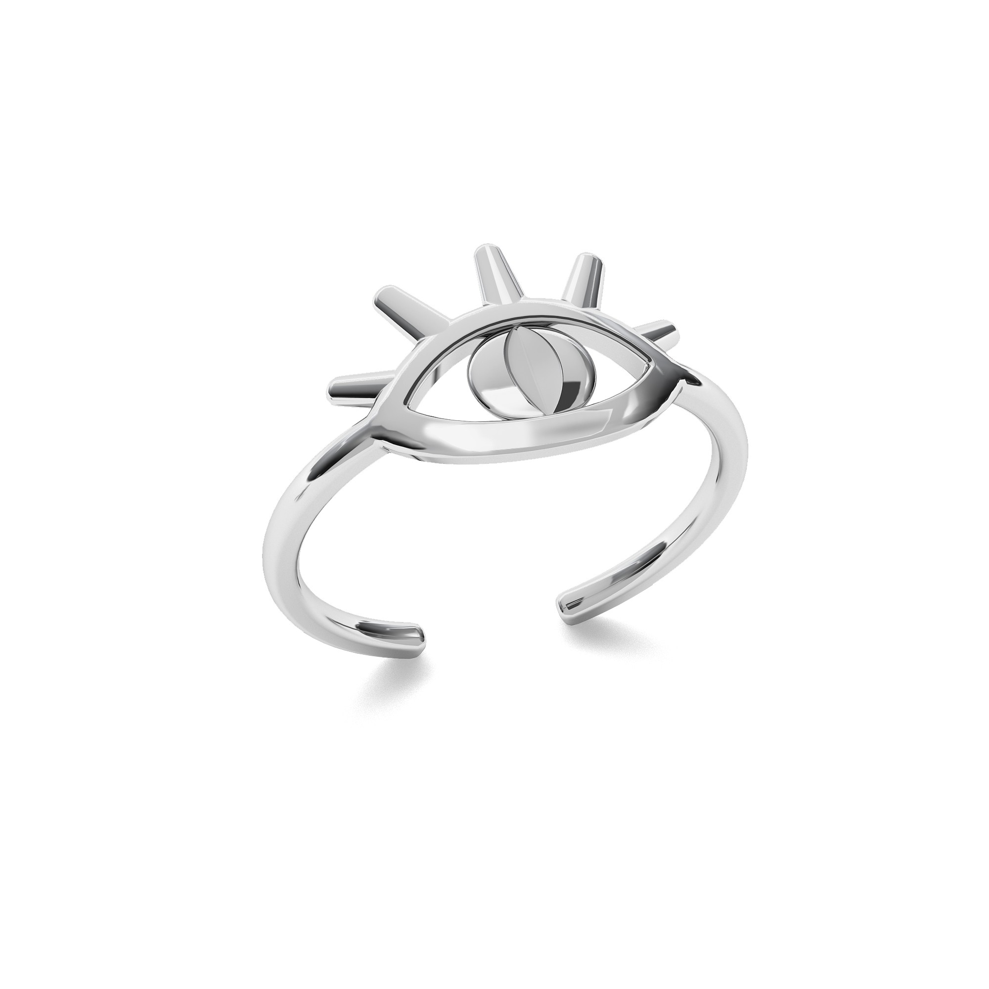 Signet with your letter, sterling silver 925